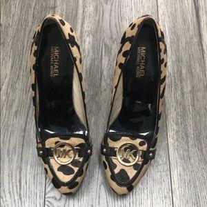 NEVER WORN! Cheetah print Michael Kors heels